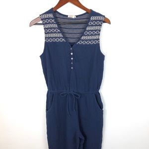 Anthropologie Embroidered Gauze Jumpsuit